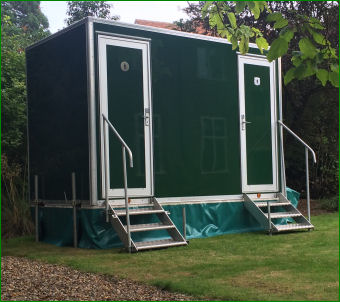 One of our 1+1 toilet units in a garden