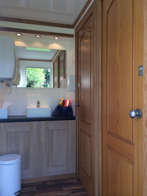 Interior of our 2+1 Luxury mobile toilet