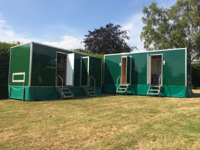 Multiple sweet pea luxury toilet units for hire