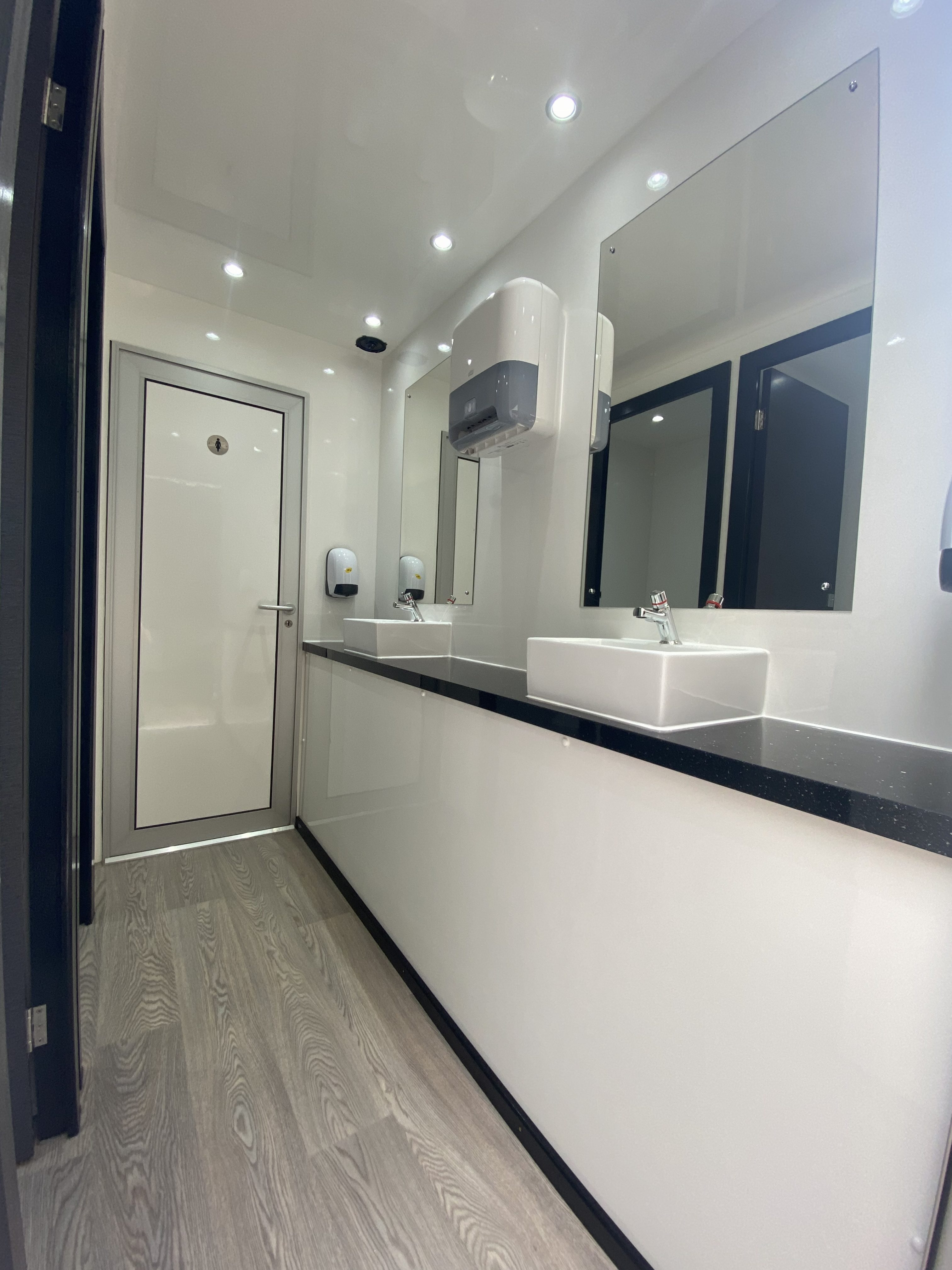 Luxury toilet unit interior hired in Surrey